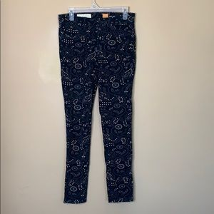 Anthropologie Pilcro Serif fit patterned corduroys